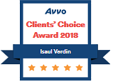Verdin Law, AVVO Clients Choice Award 2018