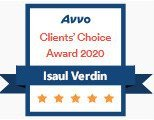 Isaul Verdin, AVVO Client's Choice Award 2020