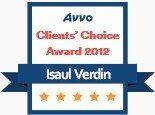 Isaul Verdin, AVVO Client's Choice Award 2012