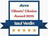 Isaul Verdin, AVVO Client's Choice Award 2013