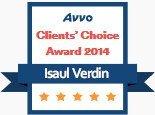 Isaul Verdin, AVVO Client's Choice Award 2014