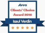 Isaul Verdin, AVVO Client's Choice Award 2016