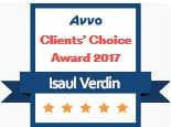 Isaul Verdin, AVVO Client's Choice Award 2017