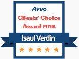 Isaul Verdin, AVVO Client's Choice Award 2018