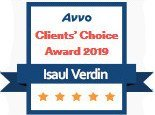 Isaul Verdin, AVVO Client's Choice Award 2019