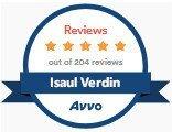 Isaul Verdin, Dallas Immigration Attorney, AVVO Reviews Jan 2020